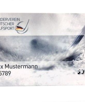 Golf Mitgliedschaftsausweis FDG