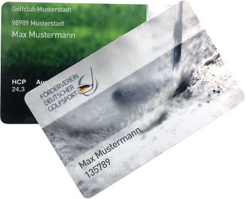 Golf Fernmitgliedschaft FDG Mitgliedsausweis
